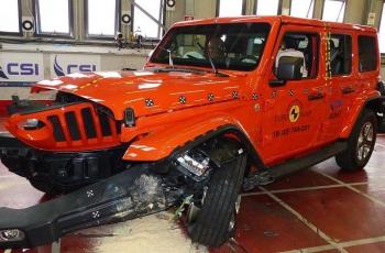 Новый Jeep Wrangler не справился с краш-тестом (видео)